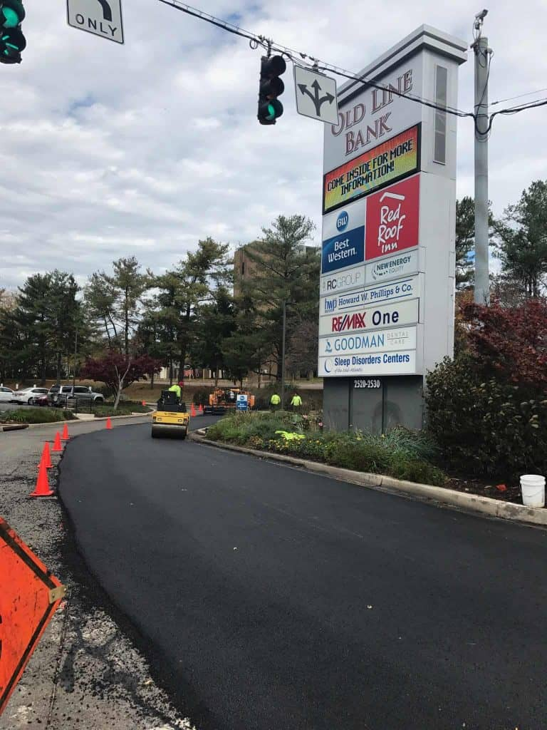 Commercial Parking Lot & Road Paving Companies